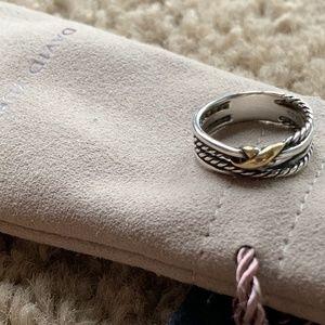 David Yurman crossover ring
